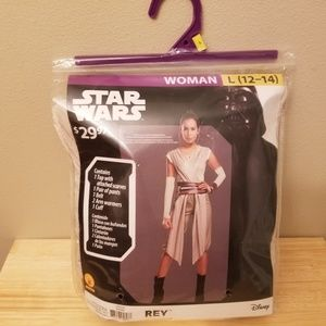 "Star Wars ""Rey"" costume women's Large 12-14- New!"
